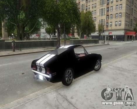 Ford Mustang Tokyo Drift para GTA 4 Vista posterior izquierda
