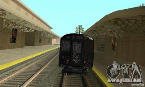GTA IV Enterable Train para GTA San Andreas vista posterior izquierda