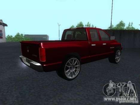 Dodge Ram 1500 v2 para GTA San Andreas left