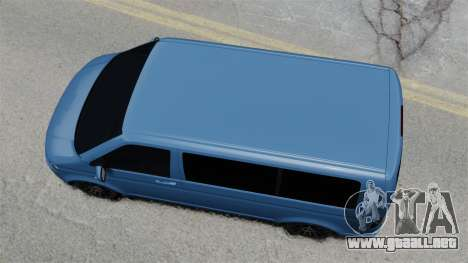 Volkswagen Transporter T5 2010 para GTA 4 visión correcta