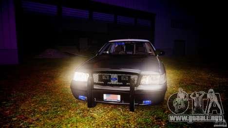 Ford Crown Victoria 2003 Florida CVPI [ELS] para GTA 4 vista superior