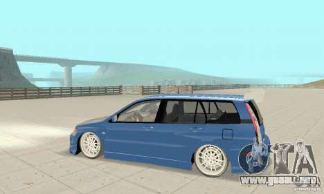 Mitsubishi Lancer Evolution IX Wagon MR Drift para GTA San Andreas vista hacia atrás