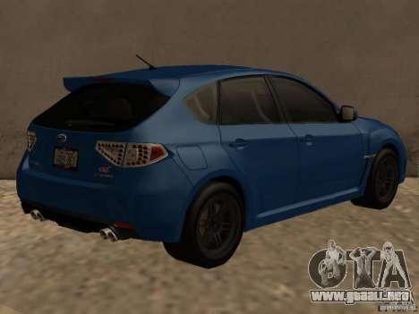 Subaru Imreza WRX para la visión correcta GTA San Andreas