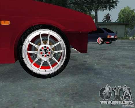 VAZ 2109 Drift para la visión correcta GTA San Andreas