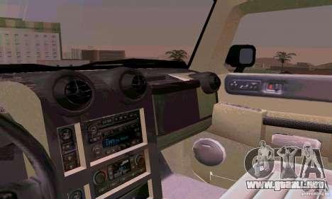 Hummer H2 Ambluance de transformadores para la vista superior GTA San Andreas