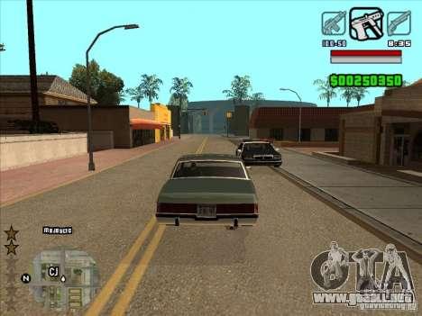 HUD by Alex para GTA San Andreas segunda pantalla
