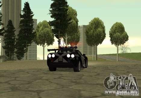 Chevrolet Cross Corvette C6 para GTA San Andreas vista posterior izquierda