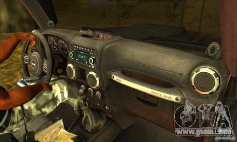 Jeep Wrangler para la vista superior GTA San Andreas