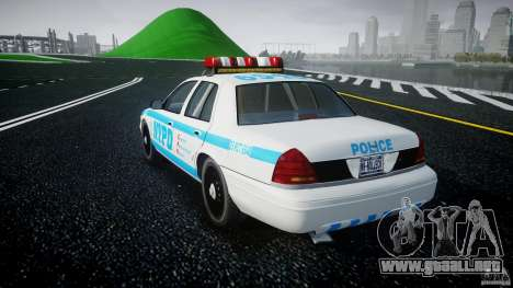 Ford Crown Victoria 2003 v.2 Police para GTA 4 Vista posterior izquierda