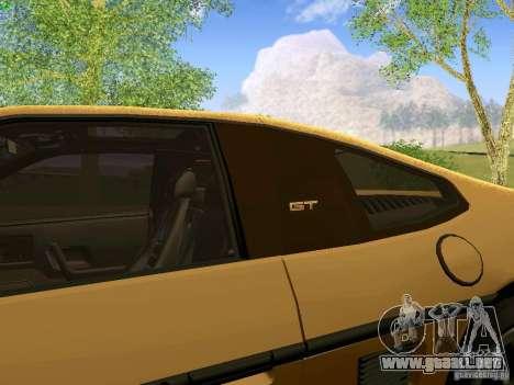 Pontiac Fiero V8 para GTA San Andreas vista hacia atrás