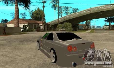 Nissan Skyline Er34 Street Drift para GTA San Andreas vista posterior izquierda