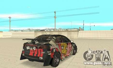 Mitsubishi Lancer EVO Ryo para GTA San Andreas vista posterior izquierda