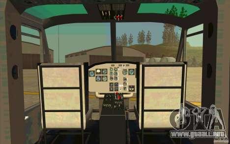 UH-1D Slick para visión interna GTA San Andreas
