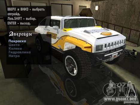 Hummer HX Concept from DiRT 2 para GTA San Andreas