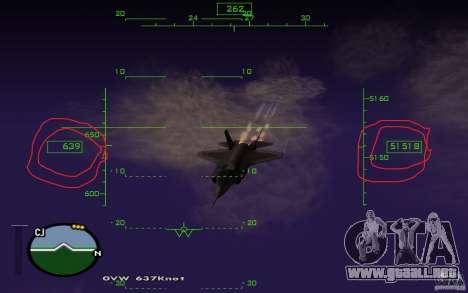 Vuelo en la mesosfera para GTA San Andreas segunda pantalla