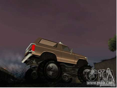 Ford Bronco IV Monster para GTA San Andreas vista posterior izquierda