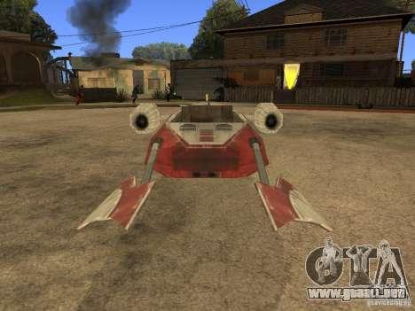 Equipaje de Star Wars para GTA San Andreas vista hacia atrás