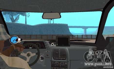 LADA 21103 v.1.1 para GTA San Andreas vista hacia atrás