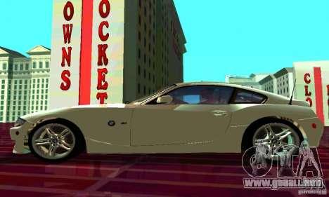 BMW Z4 E85 M para visión interna GTA San Andreas