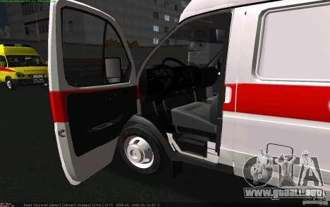 Ambulancia gacela 22172 para GTA San Andreas vista posterior izquierda
