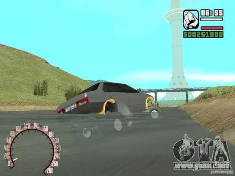 Vaz 21099 4 x 4 para GTA San Andreas vista posterior izquierda