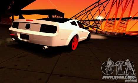 Shelby GT500 KR para GTA San Andreas interior