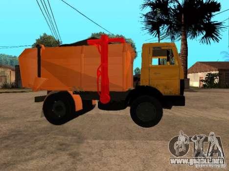 CAMIÓN DE BASURA MAZ 54323 para la visión correcta GTA San Andreas