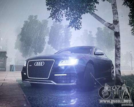 Audi RS5 2010 para GTA 4 vista hacia atrás