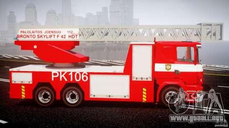 Scania R580 Fire ladder PK106 [ELS] para GTA 4 vista hacia atrás