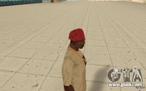Bandana Maryshuana rojo para GTA San Andreas segunda pantalla