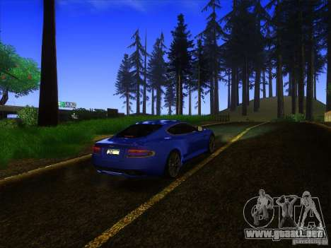 Aston Martin Virage 2011 Final para vista lateral GTA San Andreas
