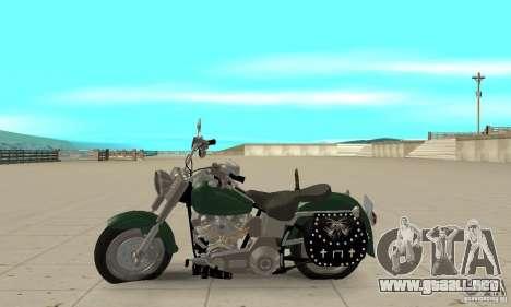 Harley Davidson FLSTF (Fat Boy) v2.0 Skin 1 para GTA San Andreas left