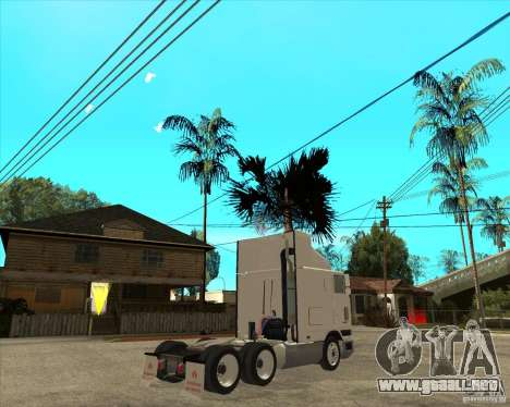 Navistar International 9800 para GTA San Andreas vista posterior izquierda