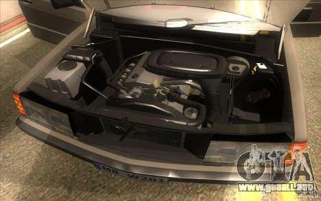 Mercedes-Benz 190E W201 para visión interna GTA San Andreas