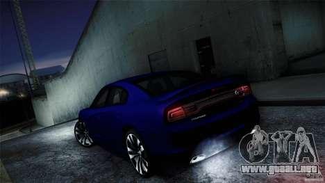 Dodge Charger SRT8 2012 para GTA San Andreas vista hacia atrás