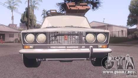 Estilo de rata Tuning 2106 VAZ para GTA San Andreas vista posterior izquierda