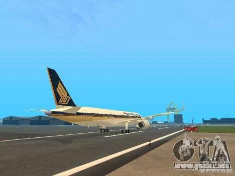 Airbus A350-900 Singapore Airlines para la visión correcta GTA San Andreas