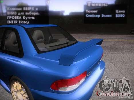 Subaru Impreza 22b Tunable para la vista superior GTA San Andreas