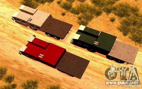 Versión estrecha Civil MAZ-7310 para la visión correcta GTA San Andreas