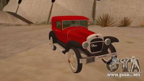 Pearce 1931 para GTA San Andreas vista hacia atrás