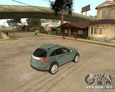 INFINITY FX45 para GTA San Andreas vista hacia atrás