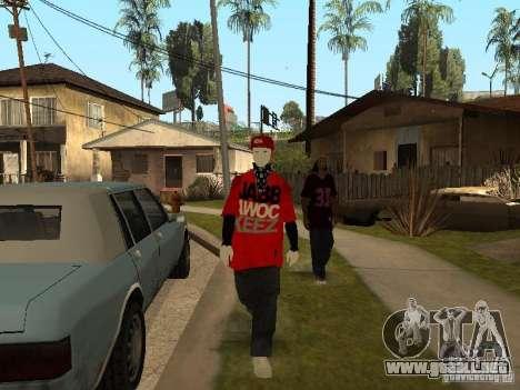 JabbaWockeeZ Skin para GTA San Andreas quinta pantalla