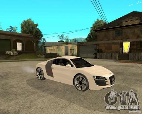 Audi R8 light tunable para la visión correcta GTA San Andreas