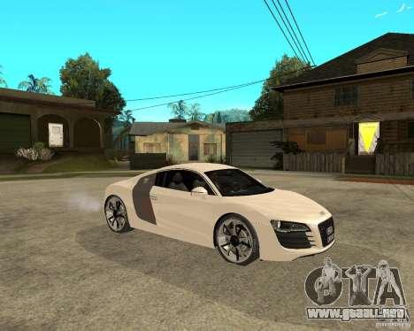 Audi R8 light tunable para la visión correcta GTA San Andreas