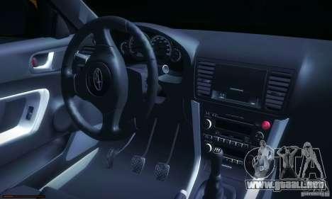 Subaru Legacy BIT edition 2004 para GTA San Andreas left