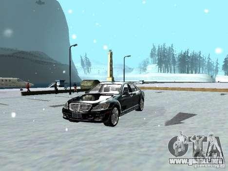 Mercedes-Benz S600 para GTA San Andreas vista hacia atrás