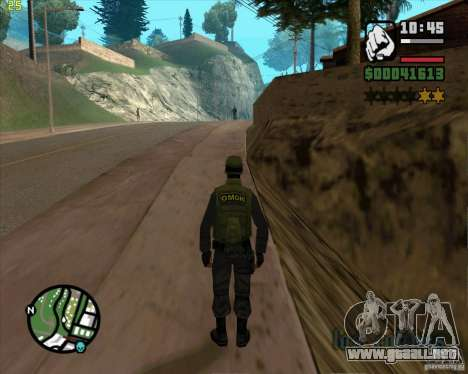 Servicio de seguridad ruso para GTA San Andreas quinta pantalla