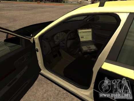 Chevrolet Impala Police 2003 para GTA San Andreas vista hacia atrás