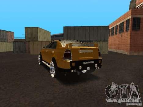 Hummer H0 para GTA San Andreas vista posterior izquierda