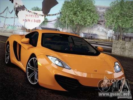 McLaren MP4-12C BETA para GTA San Andreas vista hacia atrás